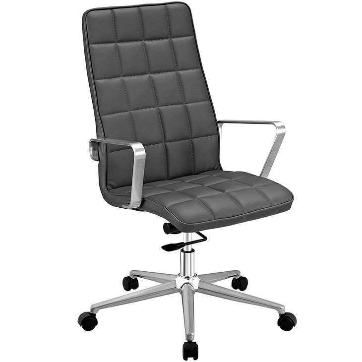 layout high back office chair gray 1