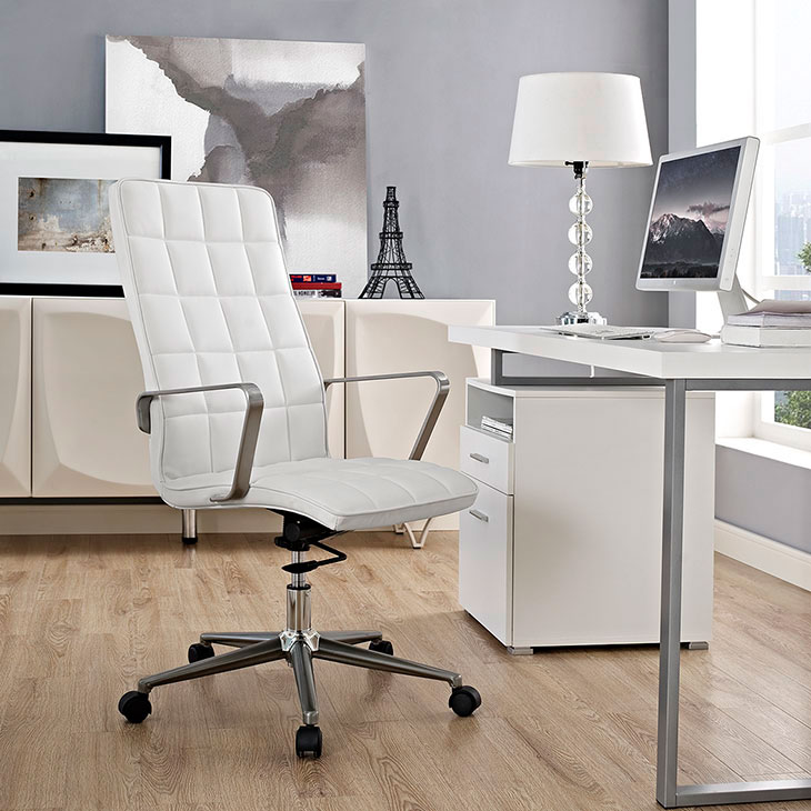 layout high back office chair white 4