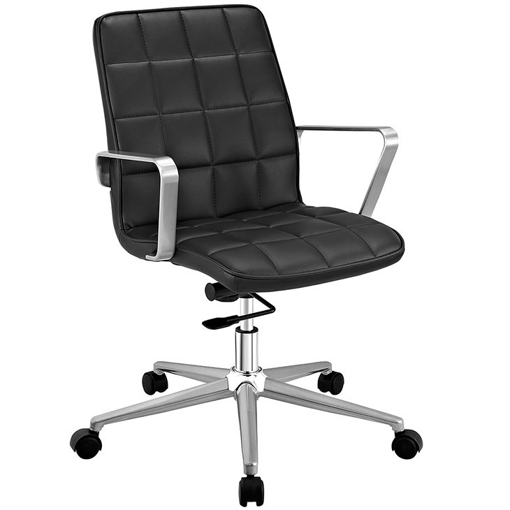 layout mid back office chair black 1