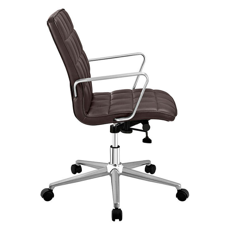 layout mid back office chair brown 1