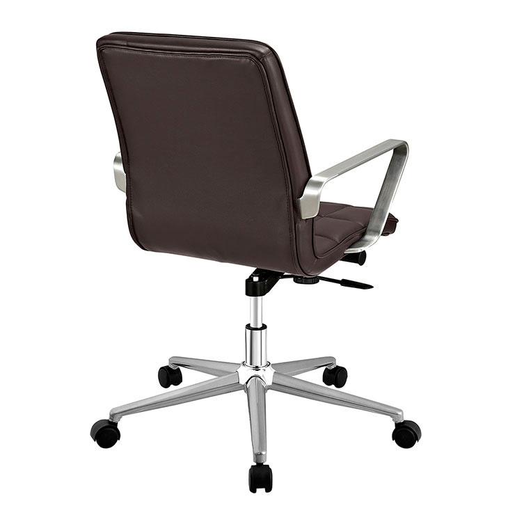 Layout Mid Back Office Chair Brown 2