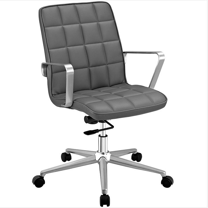 layout mid back office chair gray 1