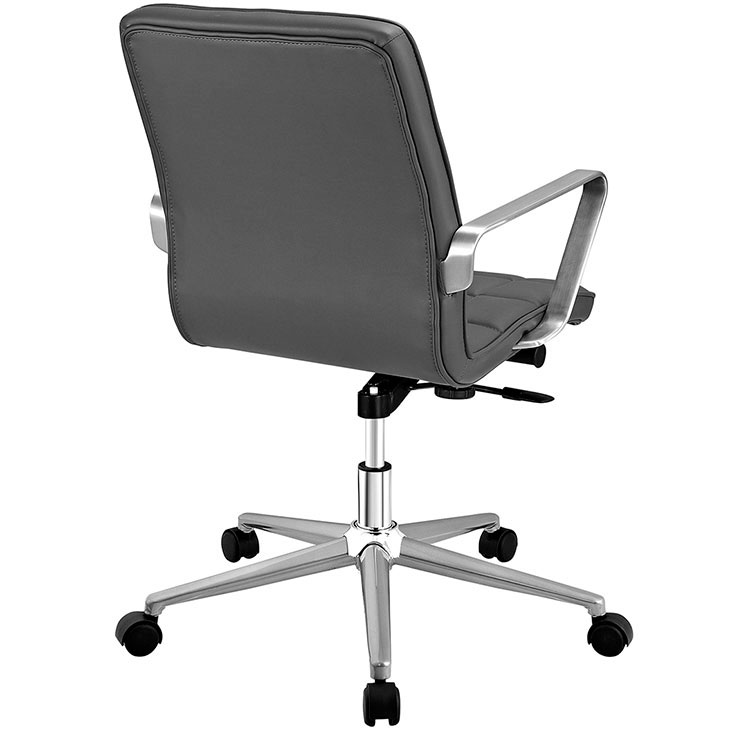 layout mid back office chair gray 3