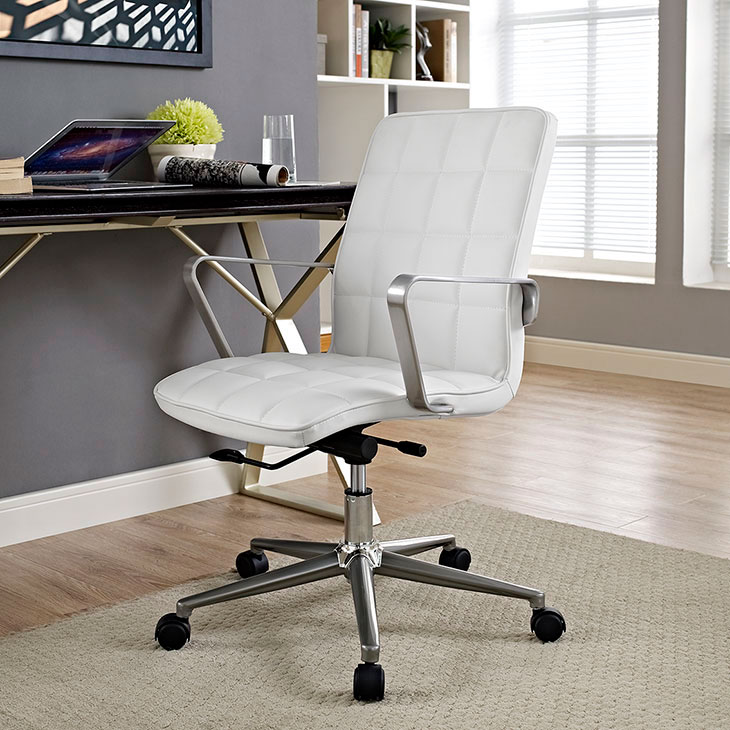 layout mid back office chair white 4