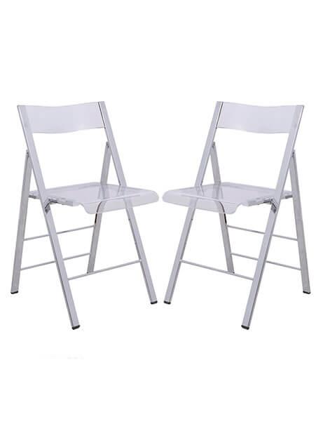 lucid clear folding chair 2 1
