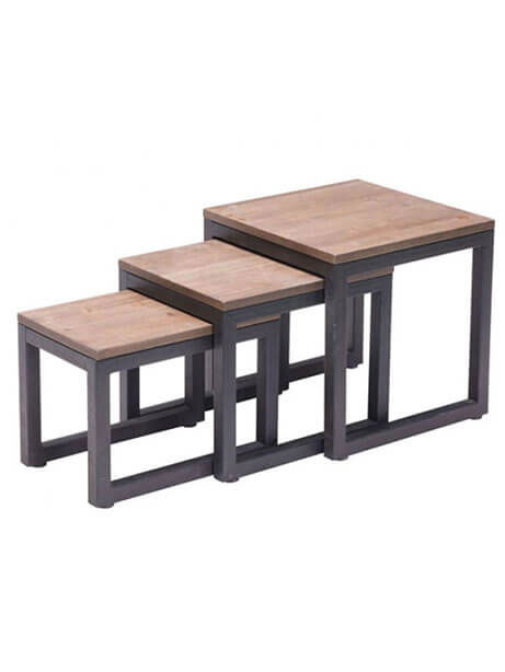 troop wood nesting table set