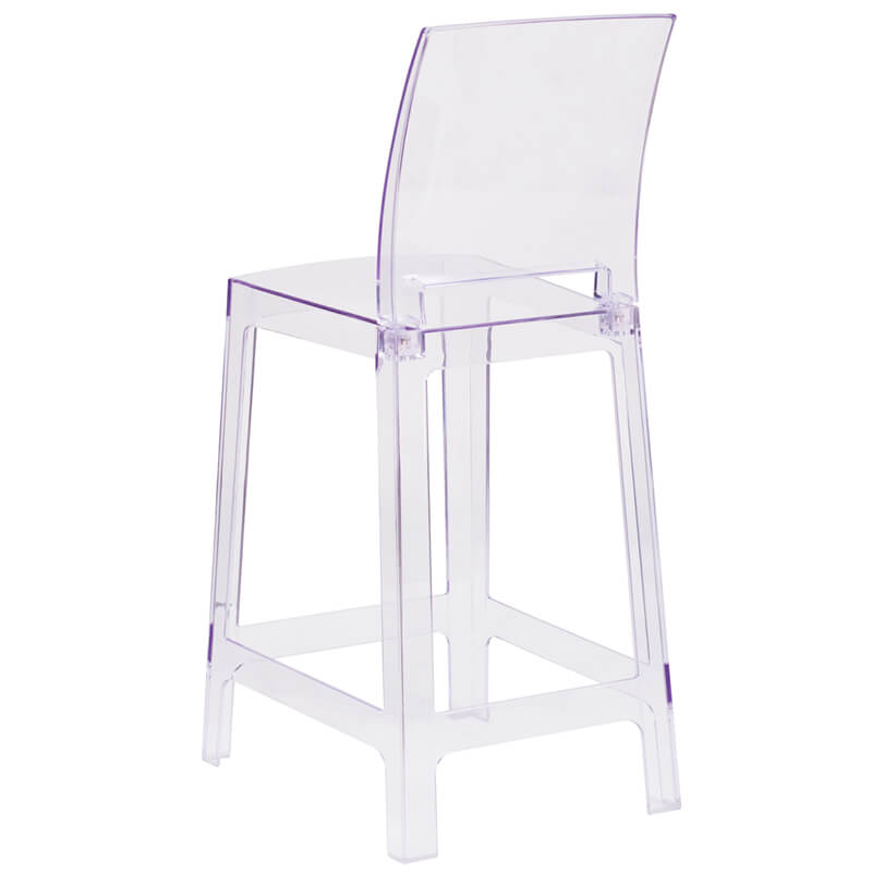 Clear square counter stool 2 1