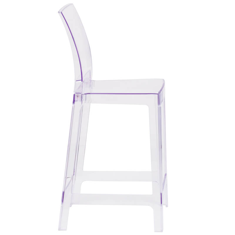 Clear square counter stool 3 1