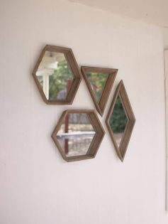 Geo Wood Mirror Set 1 237x315