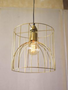 Gold Wire Mod Dome Pendant Light  237x315