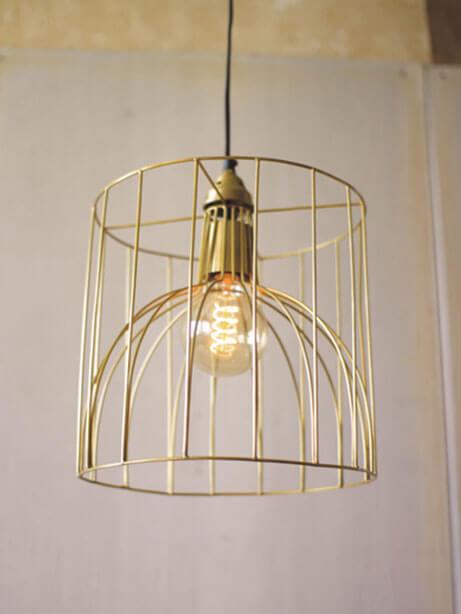 Gold Wire Mod Dome Pendant Light