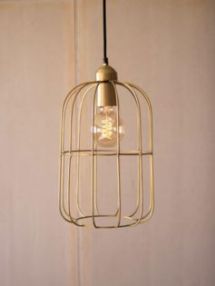 Gold Wire dome Pendant Light 237x315