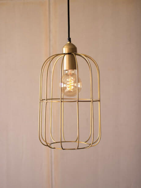 Gold Wire dome Pendant Light