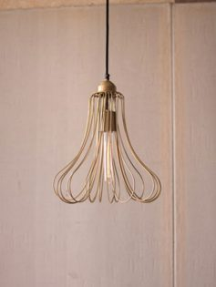 Gold wire flora dome pendant light 237x315