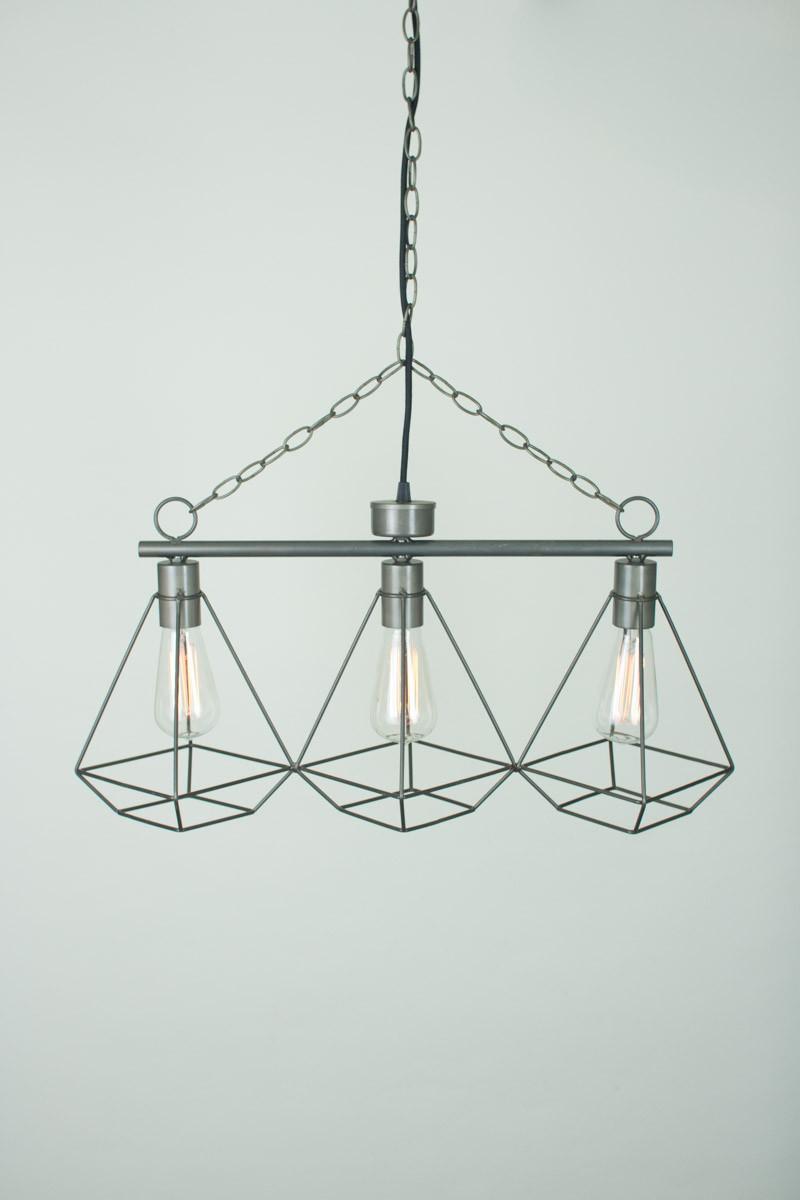 Wire Gem 3 Tier Pendant Light | Modern Furniture • Brickell Collection