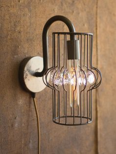 Wire Gem Wall Sconce 237x315