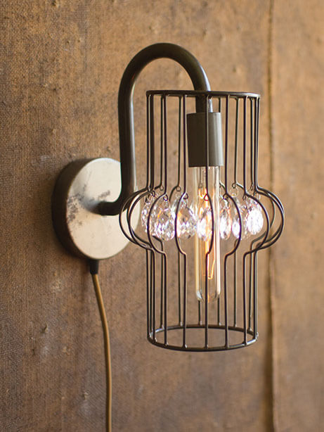 Wire Gem Wall Sconce