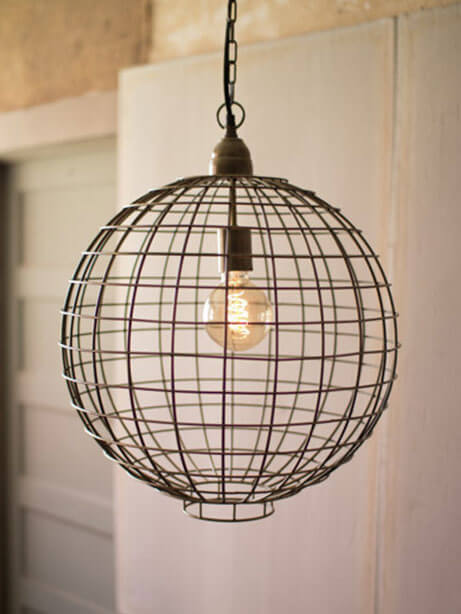 Wire Globe Pedant Light