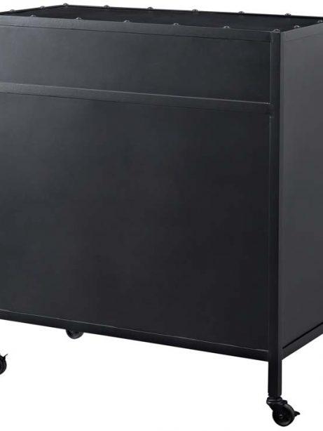Black metal rolling cabinet 2 461x614