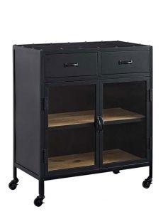 Black metal rolling cabinet 237x315