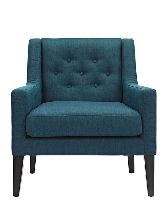 Den upholstered accent chair blue 1