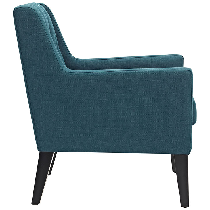 Den upholstered accent chair blue 2