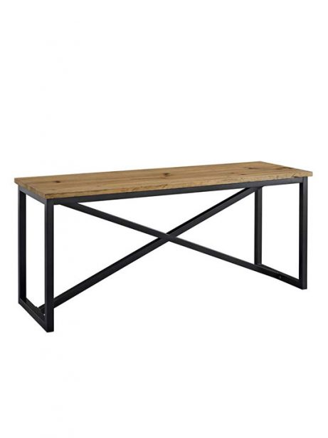 Reclaimed wood large console table 461x614