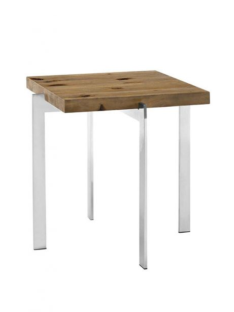 Vail Natural Wood Chrome Side Table 461x614