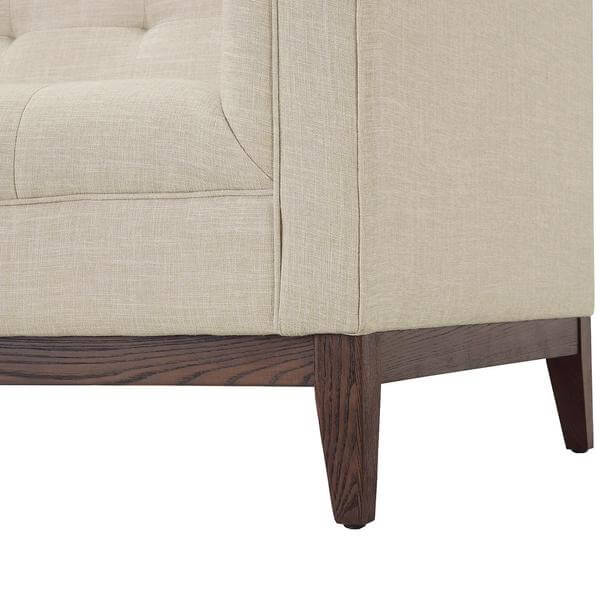 beige coop tufted sofa