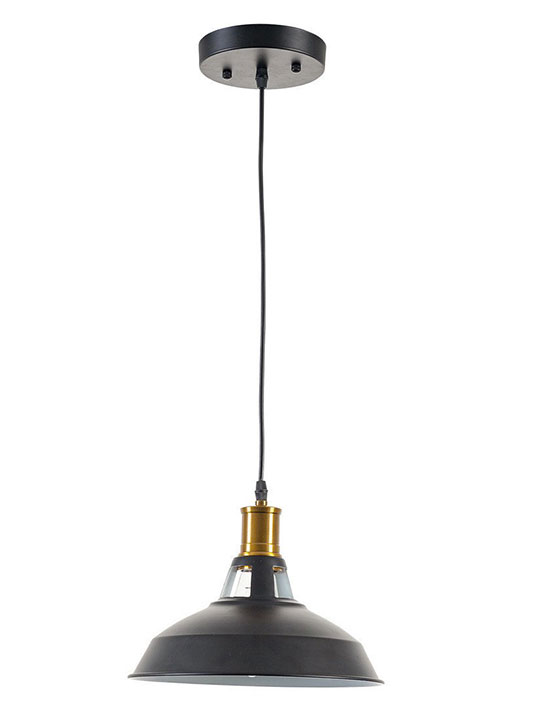 brass matte black pendant light
