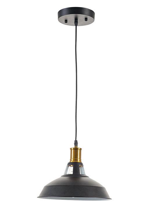 brass matte black pendant light