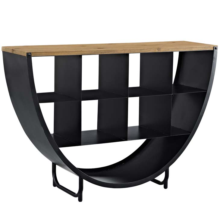 cirque wood black console table 1
