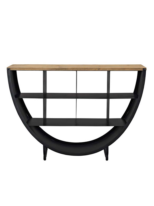 cirque wood black console table