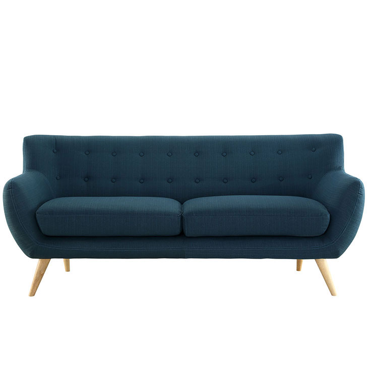 decade upholestered sofa blue 1