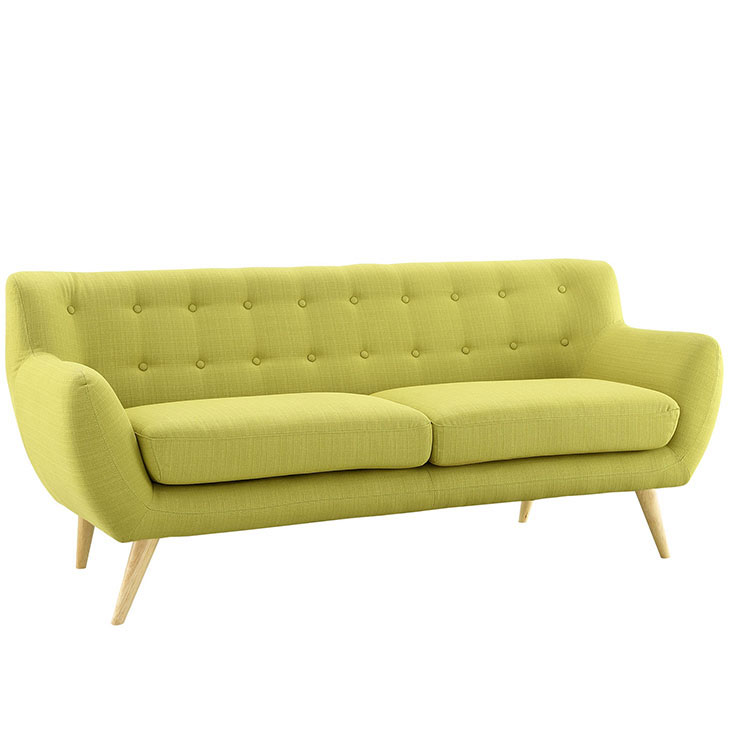 decade upholestered sofa lime green 2
