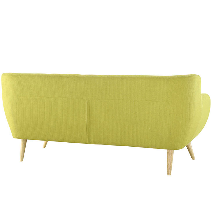 decade upholestered sofa lime green 3