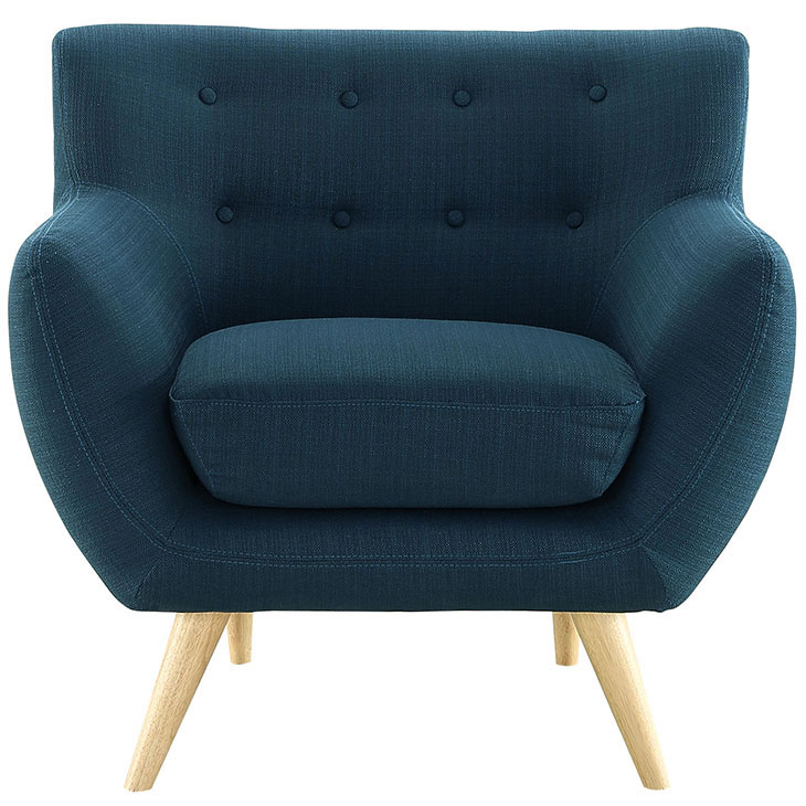 decade upholstered armchair blue 1