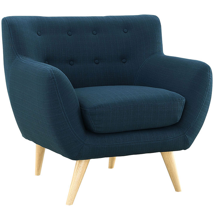 decade upholstered armchair blue 2