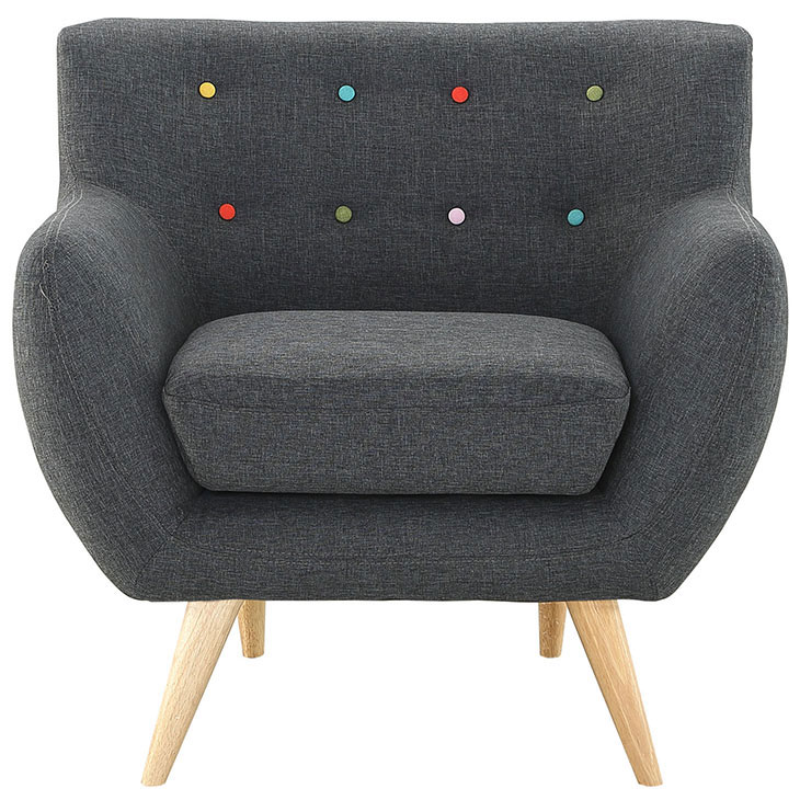 decade upholstered armchair dark gray 1