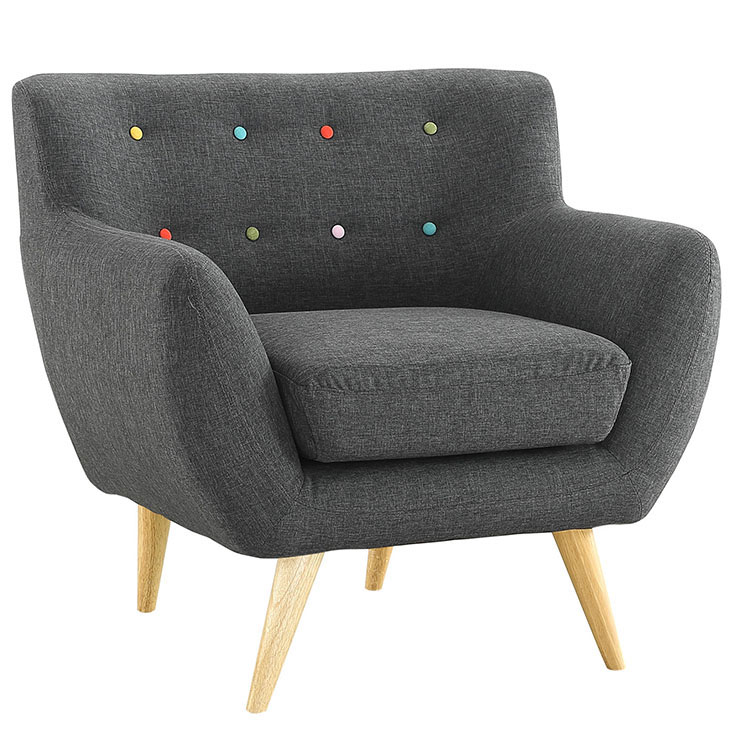 decade upholstered armchair dark gray 2