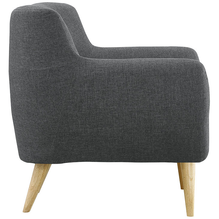 decade upholstered armchair dark gray 3