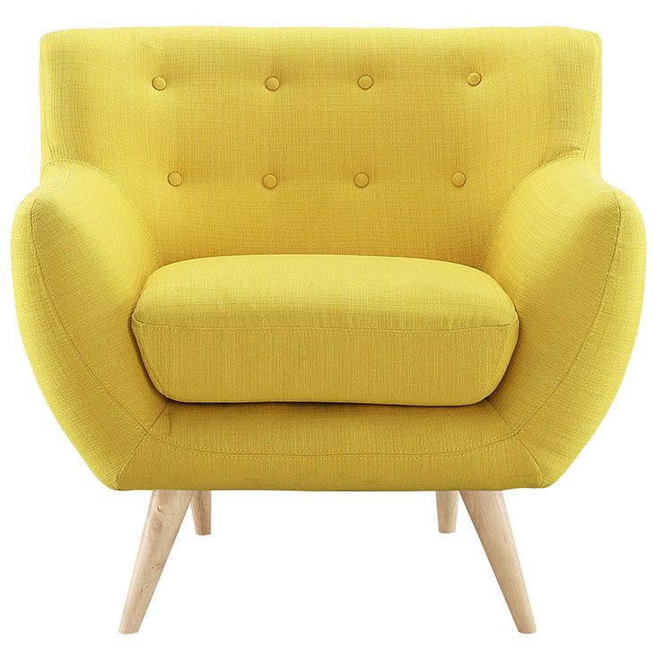decade upholstered armchair dark yellow 1