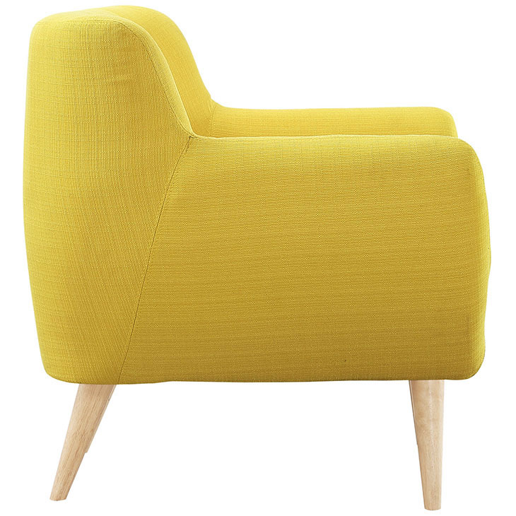 decade upholstered armchair dark yellow 3