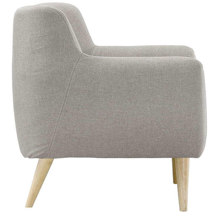 decade upholstered armchair light gray 3