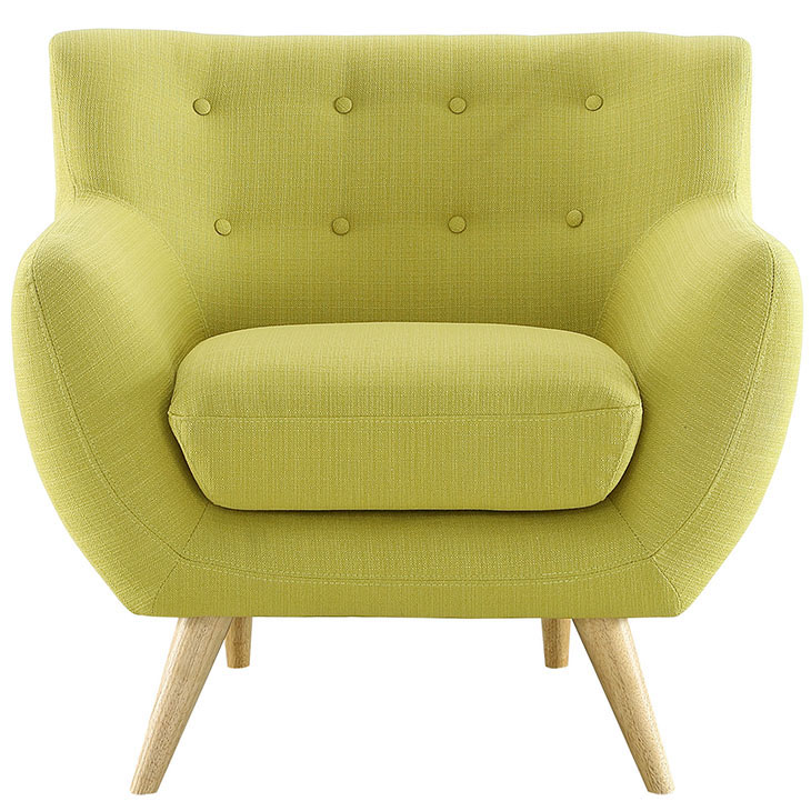 decade upholstered armchair lime green 1