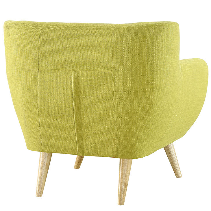 decade upholstered armchair lime green 4