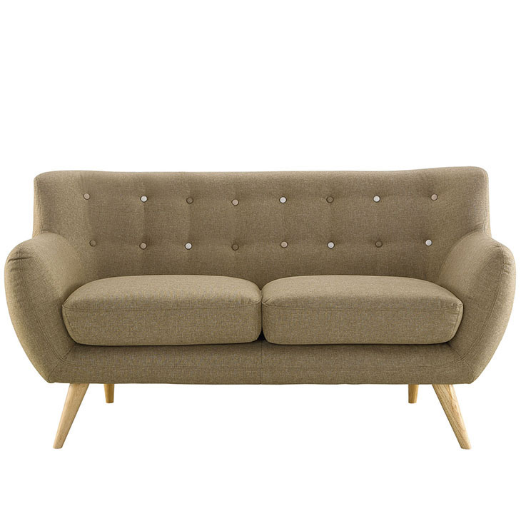 decade upholstered loveseat beige 1