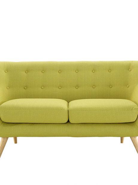 decade upholstered loveseat dark lime green 1 461x614