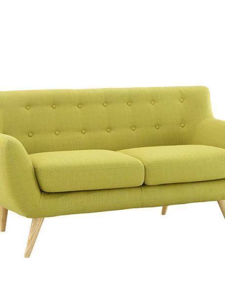 decade upholstered loveseat dark lime green 2 461x614