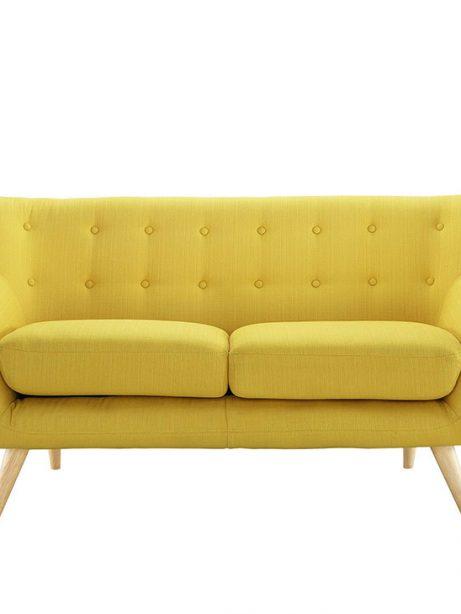 decade upholstered loveseat light yellow 1 461x614